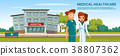 Vector cartoon man woman doctors medical service 38807362