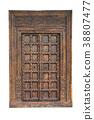 Old carved traditional wooden door, Antique door 38807477