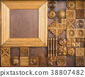 Element of decorative woodcarving  38807482