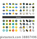 icon, set, isometric 38807496