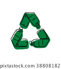 green recycle logo made of used bottle vector 38808182