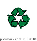 drawing green recycle vector illustration sketch 38808184