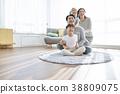 가족, 거실, 어린이 38809075