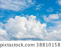 Beautiful cirrus clouds against the blue sky 38810158