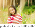 Girl lifestyle in corn field with sunlight 38812807