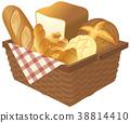 麵包 籃子 白麵包 38814410