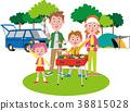 바베큐를 즐기는 가족 봄 38815028