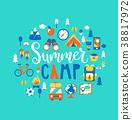 summer, camp, camping 38817972