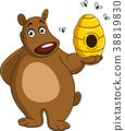 bear with beehive 38819830
