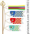 잉어 모양의 배경 38819921