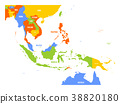 Vector map of Southeast Asia 38820180