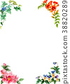 Frame material of four seasons plants drawn by watercolor 38820289