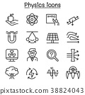 Physics icon set in thin line style 38824043