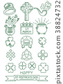 Line icon set for St. Patrick's Day 38824732