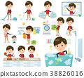 Store staff red uniform men_housekeeping 38826016