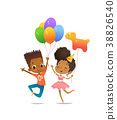 Joyous African-American boy and girl with the 38826540