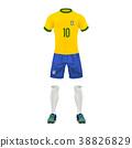 Vector realistic soccer uniform of a brazil team 38826829