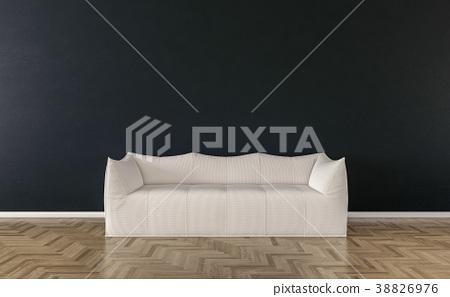 Solo sofa interior- 3d illustration 38826976