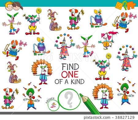 find one of a kind game with clown characters 38827129