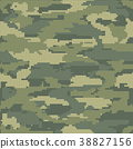 Abstract Knitting Seamless Texture. Military 38827156
