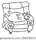 cat, character, armchair 38828034