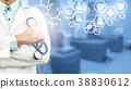 Doctor with Medical Science Icon Modern Interface 38830612