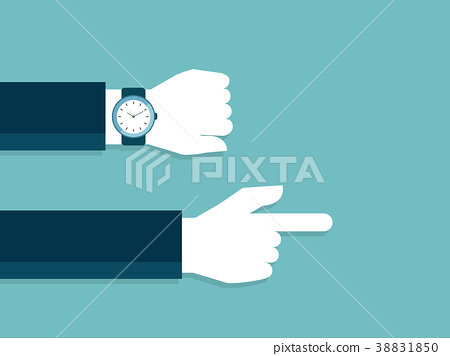 hand and watch with late time  38831850
