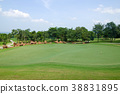 training putt in golf course 38831895