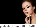 Young beautiful woman with evening make up 38832681