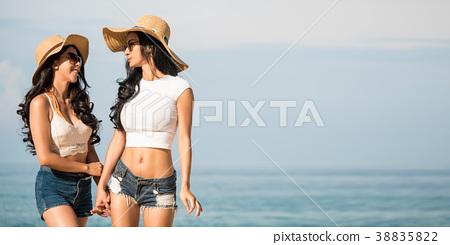Lesbian beach pics what