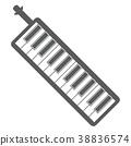 ไอคอนภาพประกอบหีบเพลงปากคีย์บอร์ด 38836574
