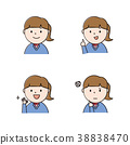 面部表情 表情 一組 38838470