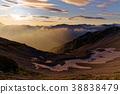 북 알프스 · 薬師岳 능선에서 보는 아침 赤牛岳 방면 38838479