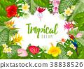 Summer tropical frame design 38838526