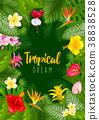 Summer tropical frame design 38838528