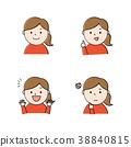 面部表情 表情 女人 38840815
