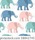 elephant, cute, pattern 38842745