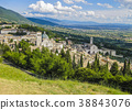 View of Assisi medieval town, Italy 38843076