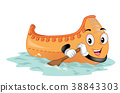 Mascot Canoe Illustration 38843303