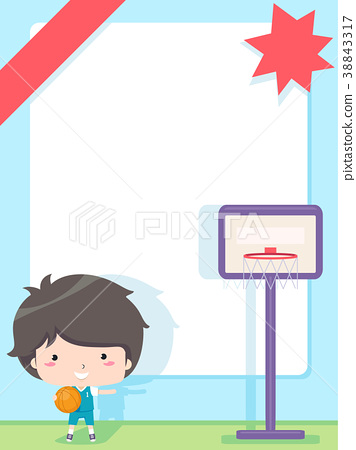 Kid Boy Basket Ball Club Frame Background 38843317