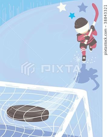 Kid Boy Junior Hockey Play Background Illustration 38843321