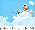stickman, kids, iceberg 38843346
