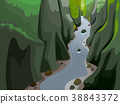 Body Of Land Gorge Illustration 38843372