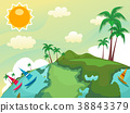 Globe Tropical Country Illustration 38843379