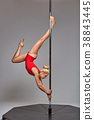 pole, female, dancer 38843445