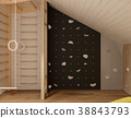 attic interior with climbing and Swedish walls 38843793