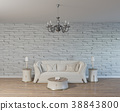 3d rendering of loft living room with white sofa 38843800