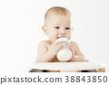 유아, 아기, 젖병 38843850