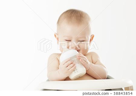 젖병,우유,아기의자,유아,베이비,아기 38843854