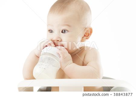 젖병,우유,아기의자,유아,베이비,아기 38843877